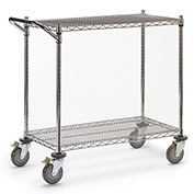 "Relius Solutions Wire Utility Carts, Chrome Finish, 48""Wx24""D Shelf, 40""H"