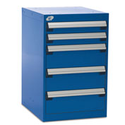 "Five-Drawer Pedestal For Modular Mobile Cabinets - 3"",6"" Front Drawer Heights"