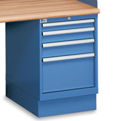 "5-Drawer Pedestal - 2-7/8"", 3-7/8"", 4-7/8"", 5-3/4"" Front Drawer Heights - Without Partitions"