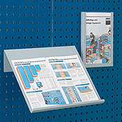 "Toolboard Shelf For Perfo Panels, Angled Document Holder, 18""Wx14""D (Double Letter Size)"