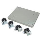 Mobile Base Kit - For One Pedestal - Steel Top With Rubber Mat