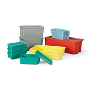 LewisBins Plexton Stack-N-Nest Lid For Fiberglass Container, Green, Fits Container 46872