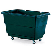 Techstar Plastics Recycled Material Handling Carts, Ribbed Walls, 25Wx37Dx26H