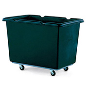 Techstar Plastics Recycled Material Handling Carts, Smooth Walls, Plywood Base, 27Wx39Dx29H