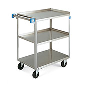 "LAKESIDE Stainless Steel Utility Carts - 24""Wx15-1/2""D Shelf - 300-lb. Capacity"