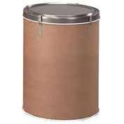 12-Gallon Capacity Round Fiber Drums With Steel Lever-Lock Tops, 150-Lb. Capacity