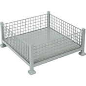 Relius Solutions Mini-Bulk Containers (10 Cu. Ft.), Wire Mesh Sides, Gray