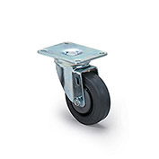 Dolly Replacement Casters, Rubber Wheel, 225-Lb. Capacity