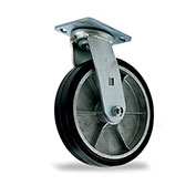 "Mold-On Casters, 6""Dia.X2""W Wheel, Rigid"