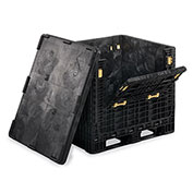 "Orbis Heavy-Duty Collapsible Bulk Containers, Black, 32""Wx30""Lx34""H"