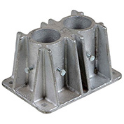 Steel Safety Guardrail, Double Mounting Socket, Stationary Mount