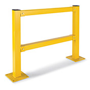 """Impact-Resistant Protective Post, 45""""H Two-Rail Post, Line Post"""