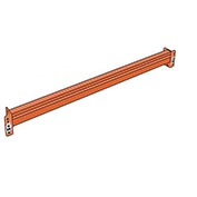 "Pallet Rack Solid Beam, 60X3"", Regular Duty"