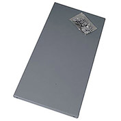 """Extra Shelf For Economical Open And Closed Steel Shelving, 36X18"""", Gray"""