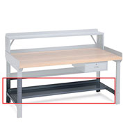 "Lower Shelf For Benches - 60X15"" - Gray"