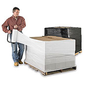 """Opaque Black And White Security Stretch Wrap - 15""""X1500' - 80 Gauge - White - Pkg Qty 4"""