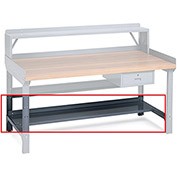 "EDSAL Lower Shelf for Benches - 72x15"" - Gray"