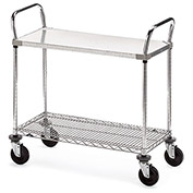 "METRO Galvanized/Wire Carts - 48""Wx24""D Shelf"