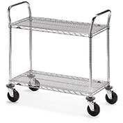 "METRO Two-Shelf Wire Carts - 36""Wx24""D Shelf"