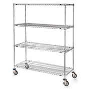 "Metro Super Erecta Shelf Trucks with Wire Shelves - 72"" Wx24"" D Shelf - 79"" H"