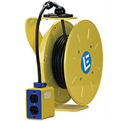 30' 14/3 SOW Cable Cord Reel W/ 15A Quad Box, LE9530143QB1