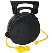 50' 14/3 SJTW Cable Reel, 13A Triple Outlet, 8050-T