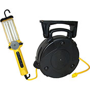 50' 16/3 SJTW Cable Reel, Dpl 26W CFL Work Light With 9A Outlet, 8050-DPL