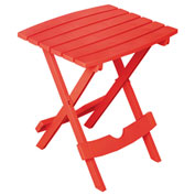 Quik Fold Side Table, Cherry Red