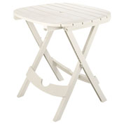 Quik Fold Cafe Table, White
