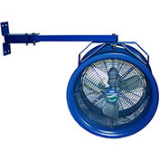 "Patterson 292598 High Velocity Truck Cooler Fan, 14"" , 230/460V, 3 PH w/ Swing Arm & Yoke"