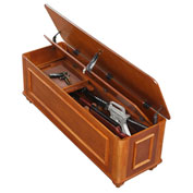 American Furniture Classics Hope Gun Concealment Chest, 5 Gun Capacity, Medium Brown