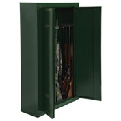 American Furniture Classics Metal Security Cabinet, 14 Gun Capacity, Green