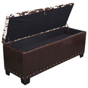 American Furniture Classics Udder Madness Gun Concealment Bench, 5 Gun Capacity, Cowhide