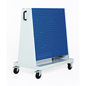 Perfo-Tool Trolley, 2 Perfo Panels/Side, 39x18x47""