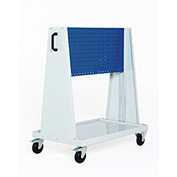 Perfo-Tool Trolley, 1 Perfo Panel each side, 39x18x47""
