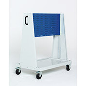 Perfo-Tool Trolley, 1 Perfo Panels - Louvered Panel, 39x18x47""