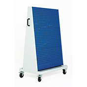 Perfo-Tool Trolley, 3 Perfo Panels - 3 Louvered Panels, 39x18x63""