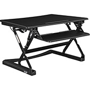 Ergonomic Sit and Stand Desk Platform, Removable Keyboard Tray, Black