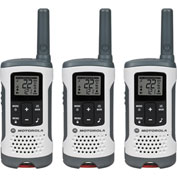 Motorola Talkabout ® Rechargeable Two-Way Radios, White, 3 Pack