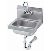 """Krowne 16"""" Wide Hand Sink with P-Trap with Overflow, HS-4"""