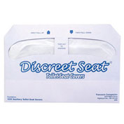 Hospeco DS-5000, Discreet Seat® 1/2 Fold Toilet Seat Covers, 250 Covers/Pack, 20 Packs/Case