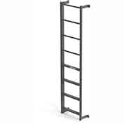 EGA DS4 Steel Side Step, Dock Ladder, 4 Step, Gray
