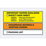"6-1/2""x 10"" Important Papers Enclosed SDS, Full Face Yellow/Orange , 1000 Pack"