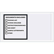 "5-1/2"" x 10"" Documents Enclosed - Printer Clear Full Face, 1000 Pack"
