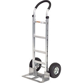Aluminum Hand Truck Curved Handle, Mold-On Rubber Wheels