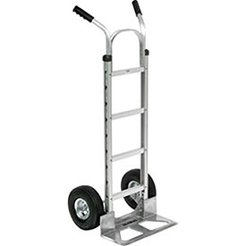 Aluminum Hand Truck Double Handle, Pneumatic Wheels