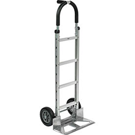 Aluminum Hand Truck Pin Handle, Mold-On Rubber Wheels