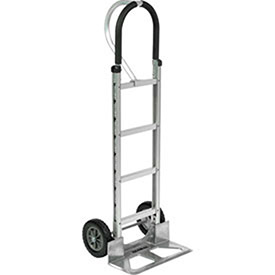 Aluminum Hand Truck Loop Handle, Mold-On Rubber Wheels