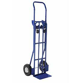 Steel 2-in-1 Convertible Hand Truck with Pneumatic Wheels