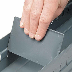 """DURHAM Dividers for Modular Cabinets - 2-1/2""""H - Package of 12"""